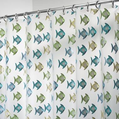 Rèm nhà tắm hình cá loại lớn 180x200cm Interdesign - Mỹ