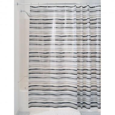 Rèm nhà tắm hình sọc ngang loại lớn 180 x 200 cm Interdesign - Mỹ