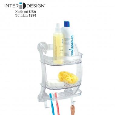 Giá nhựa để đồ nhà tắm mút dính PL Interdesign - Mỹ