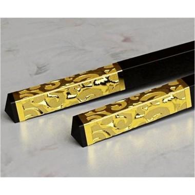 Đũa ăn đầu bọc vàng 35mm HJK063 Beiye:
