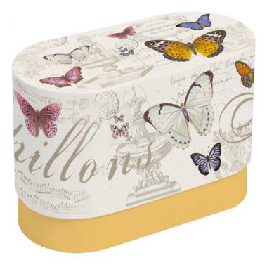 Bộ 02 cốc sứ xương họa tiết Butterfly Nuova - Ý