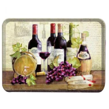 Khay nhựa melamin họa tiết rượu vang (45x31)cm Nuova - Ý