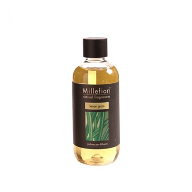 Lọ bổ sung tinh dầu khuyếch tán Lemon Grass 250ml Millefiori - Ý