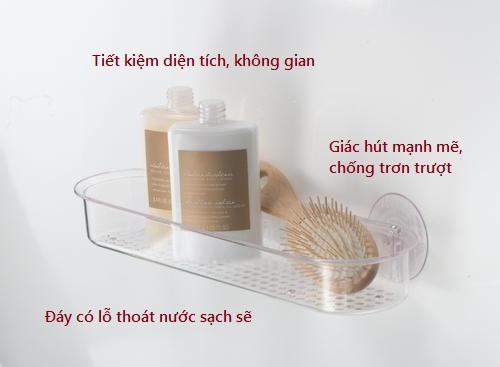 Giỏ để khăn lược mút dính S/t clear Interdesign