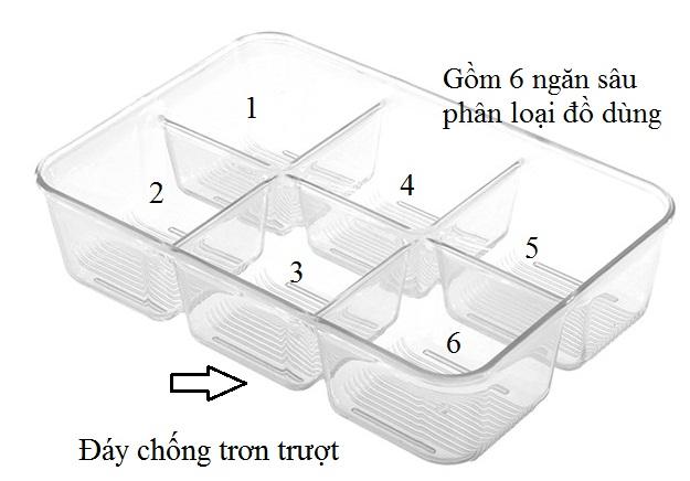 Khay để đồ Pack Multi Clr Interdesign