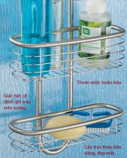 Giá để đồ nhà tắm inox bóng Forma Ultra Interdesign