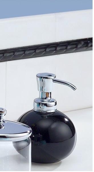 Bình đựng dầu gội, sữa tắm York Interdesign (Round,Blk)