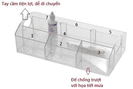 Khay để đồ tiện ích Med loại lớn Interdesign