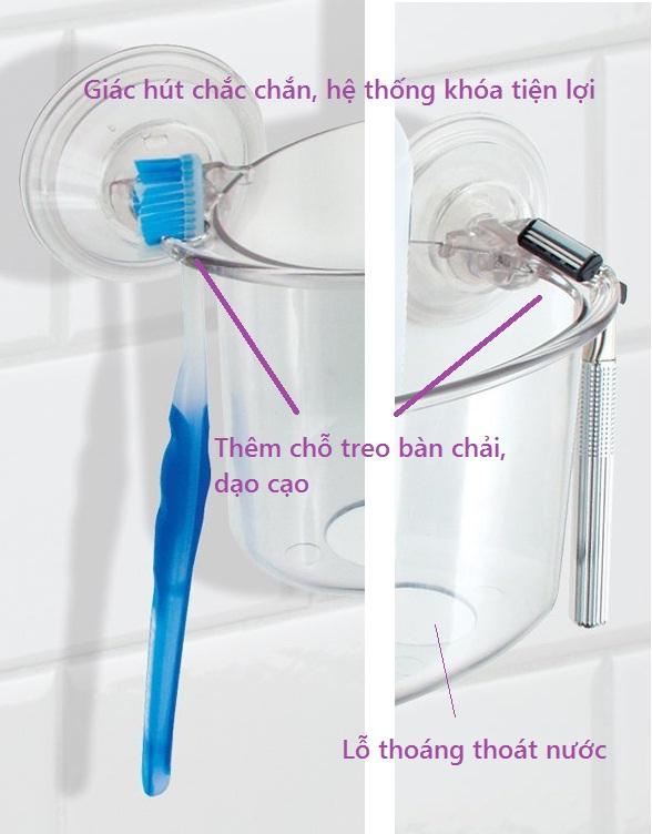 Khay nhựa để đồ nhà tắm mút dính PL Interdesign