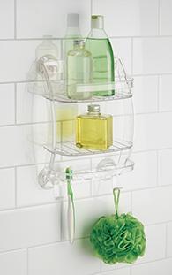 Giá nhựa để đồ nhà tắm mút dính PL Interdesign