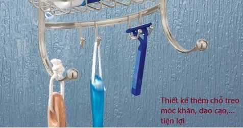 Giá để đồ nhà tắm inox York Lyra InterDesign