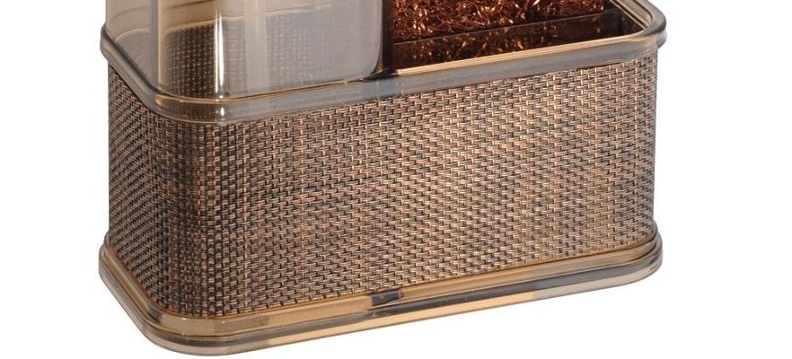 Bộ bình đựng dầu gội & mút tắm Twillio Interdesign (Bz)