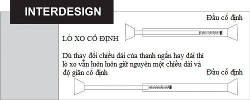 Thanh treo rèm tắm inox Forma Interdesign (S)
