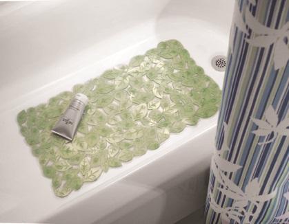 Thảm nhựa nhà tắm hình lá Leavz Interdesign (Grn)