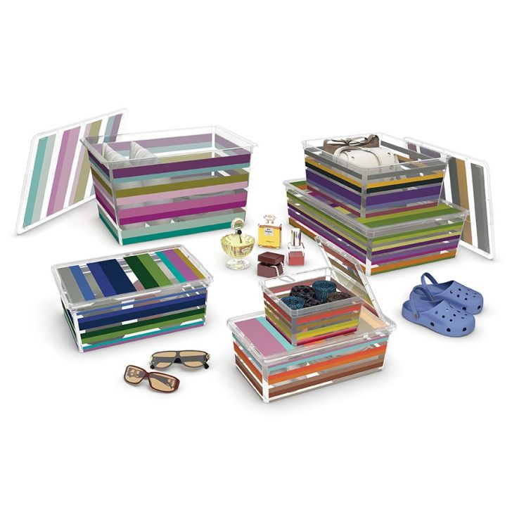 Hộp chứa đồ thông minh với họa tiết những giọt sơn màu sắc
