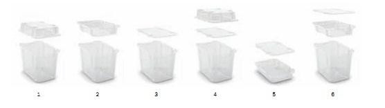 Hộp chứa đồ đa chức năng tiện dụng hơn khi sử dụng kết hợp với các hộp cùng loại khác