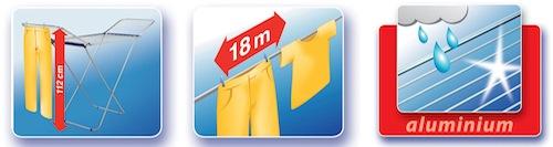 Giá nhôm phơi đồ Siena 180 Leifheit