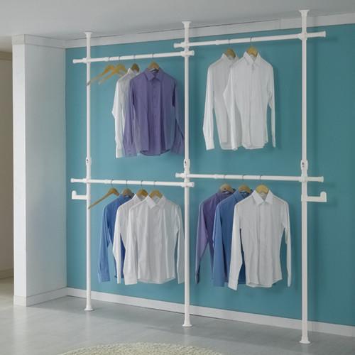 Giá treo quần áo 2 tầng- 4 ngăn Living star (Trắng)