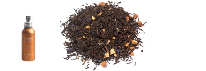 Xịt thơm đệm & thảm xe ô tô Orange Tea Millefiori