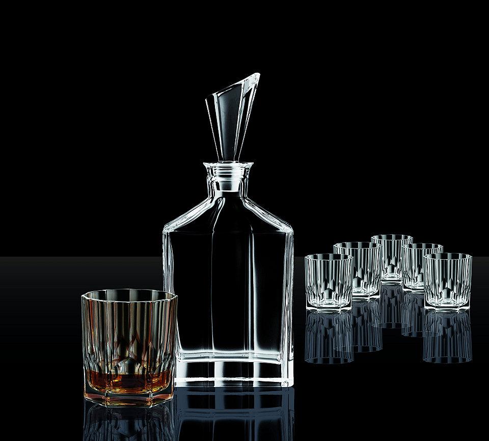 Bình rượu và 6 ly uống rượu Whisky bằng pha lê, đẹp sang trọng