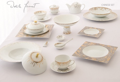 Bình trà lùn bằng sứ xương Legle snag trọng và phong cách